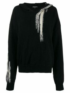 Ann Demeulemeester hooded jumper - Black