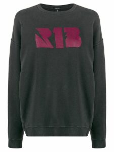 R13 logo stamp sweatshirt - Grey