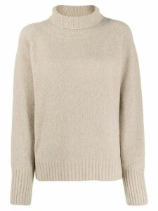 Nili Lotan roll neck knitted jumper - Brown