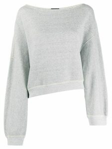 R13 boat neck sweatshirt - Grey