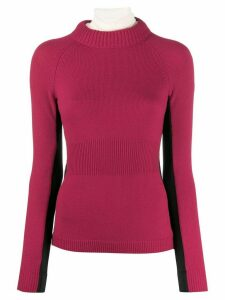 Moncler Grenoble contrast colour ribbed sweater - 518