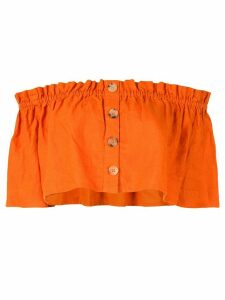 Venroy cropped off-the-shoulder top - ORANGE
