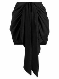 Magda Butrym Yokohama front-tie mini skirt - Black