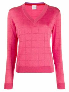 Paul Smith v-neck jumper - PINK