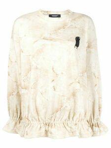Undercover marble-effect sweatshirt - NEUTRALS