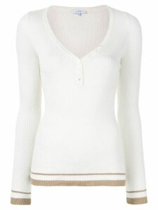 Venroy knitted top - White