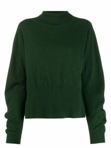 Fabiana Filippi roll-neck deep-hem jumper - Green