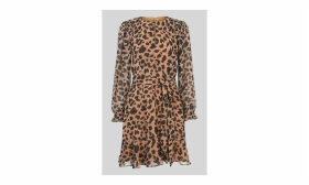 Brushed Cheetah Flippy Dress