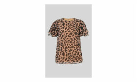 Brushed Cheetah Shell Top