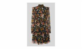 Clover Floral Silk Mix Dress
