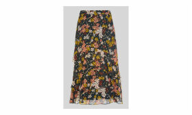 Clover Floral Silk Mix Skirt