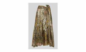 Paisley Metallic Skirt