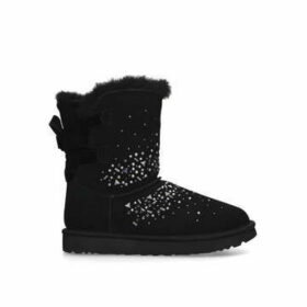 Ugg Classic Galaxy Short - Black Studded Suede Boots