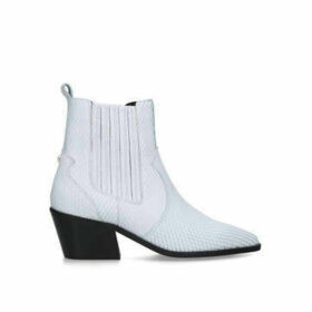 Carvela Stella - White Western Style Ankle Boots