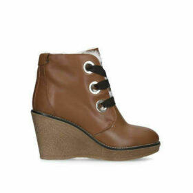 Kurt Geiger London Roland - Brown Wedged Heel Ankle Boots