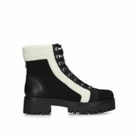 Steve Madden Groove - Black Lug Sole Hiker Boots