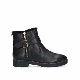 Carvela Scout - Black Faux Fur Lined Ankle Boots