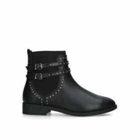 Miss KG Jiggle Wide Fit - Wide Fit Black Ankle Boots With Studded Straps