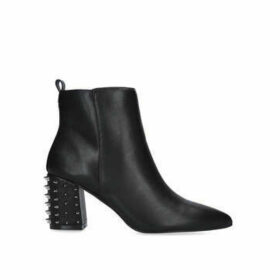 KG Kurt Geiger Suki - Black Block Heel Studded Ankle Boots