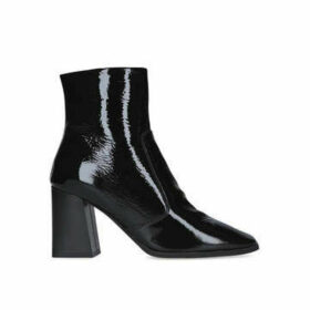 Carvela Softly - Black Patent Square Toe Ankle Boots