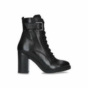 Carvela Sidewalk - Black Block Heel Chunky Ankle Boots