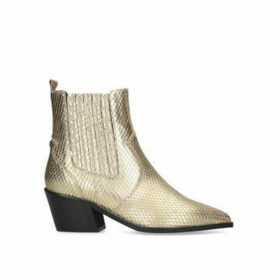 Carvela Stella - Gold Western Style Ankle Boots