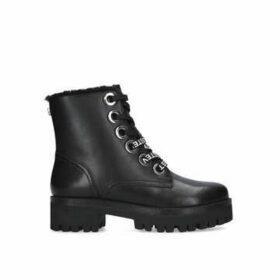 Steve Madden Glindiaa - Black Chunky Biker Boots
