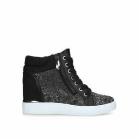 Aldo Ailanna - Black Embellished High Top Trainers