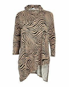 Blue Vanilla Curve Abstract Zebra Top