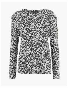 M&S Collection Animal Print Long Sleeve Top