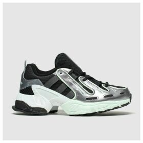 Adidas Black & Silver Eqt Gazelle Trainers