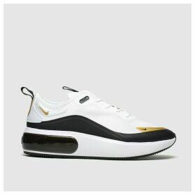 Nike White & Gold Air Max Dia Trainers