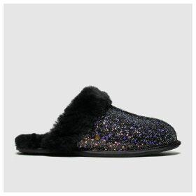 Ugg Black & Purple Scuffette Ii Cosmos Slippers