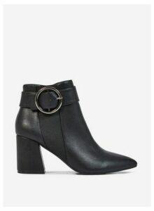 Womens Black Pu 'Alessia' Boots, Black