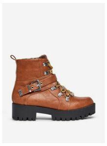 Womens **Lola Skye Brown 'Lexi' Hiking Boots, Brown