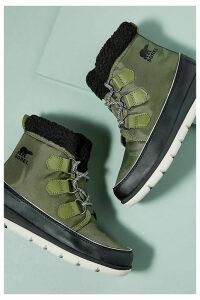 Sorel Explorer Carnival Hiking Boots - Green, Size 41
