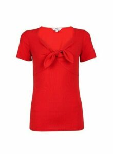 Womens **Tall Red Bow T-Shirt, Red