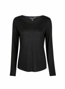 Womens Black Long Sleeve T-Shirt, Black