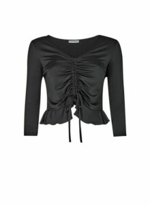 Womens **Lola Skye Black Channel Top, Black