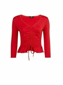 Womens **Lola Skye Red Channel Top, Red