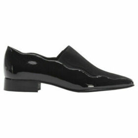 Accessoire Diffusion  Bi-material loafers with wave cut  women's Loafers / Casual Shoes in Black