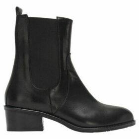 Accessoire Diffusion  Botas Chelsea de cuero  women's High Boots in Black