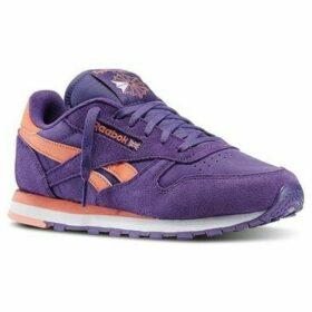 Reebok Sport  CL Lthr Seasonal II Sde  women's Shoes (Trainers) in Purple