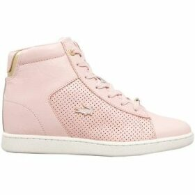 Lacoste  Carnaby Evo Wedge  women's Shoes (High-top Trainers) in Pink