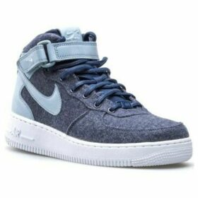 Nike  W Air Force 1 07 Mid Lthr Prm  women's Shoes (High-top Trainers) in Blue