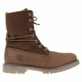 Timberland  Authentics Teddy Fleece  women's Shoes (High-top Trainers) in Brown