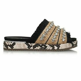 KG Kurt Geiger Melba Slide Sandals, Beige/Multi