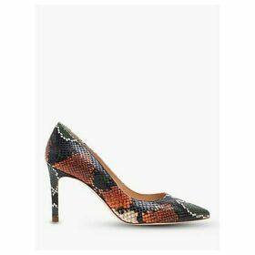 L.K.Bennett Floret Snake Print Pointed Court Shoes, Multi
