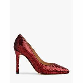 L.K.Bennett Fern Sequin Court Shoes, Burgundy