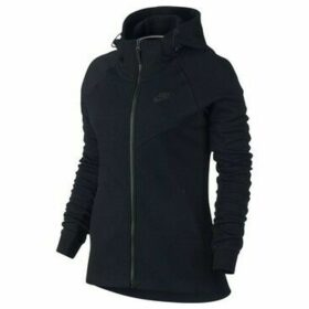 Nike  W Nsw Tch Flc Hoodie FZ  women's Sweatshirt in Black